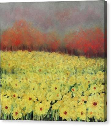 Canvas Print featuring the painting Sunflower Days by Katie Black