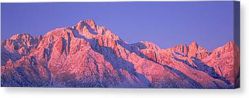 Sunrise At 14,494 Feet, Mount Whitney Canvas Print by Panoramic Images
