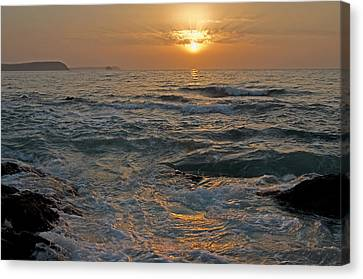 Sunrise At Portscatho Canvas Print by Pete Hemington