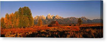 Sunrise Grand Teton National Park Wy Usa Canvas Print by Panoramic Images