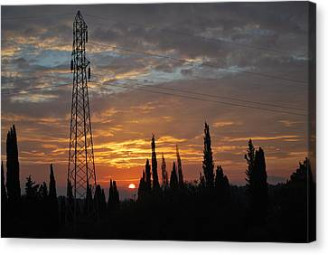 sunrise in Corfu 2 Canvas Print by George Katechis