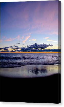 Canvas Print featuring the photograph Sunrise Lake Michigan September 14th 2013 004 by Michael  Bennett