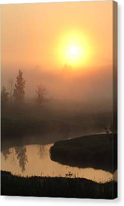 Canvas Print - Sunrise Over A River by Alex Sukonkin