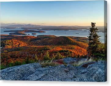 Fall In New England Canvas Print - Sunrise Over Winnipesaukee. by Jeff Sinon
