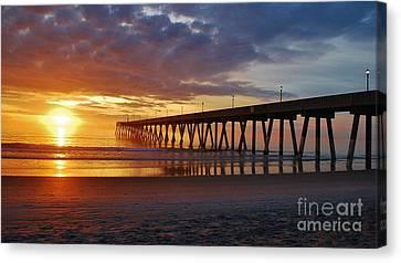 Sunrise Panorama  16x9 Ratio Canvas Print by Bob Sample