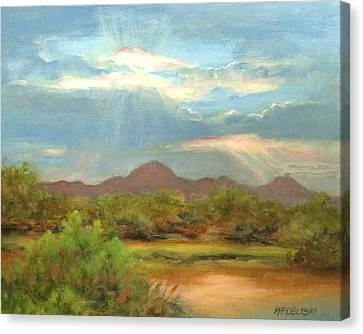 Sunrise Canvas Print by Peggy Wrobleski