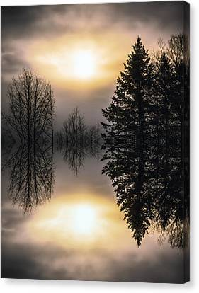 Sunrise-sundown Canvas Print by Sherman Perry