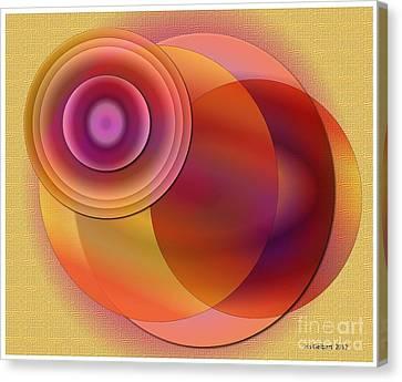 Canvas Print featuring the digital art Sunsational by Iris Gelbart