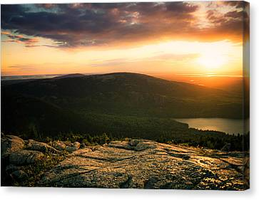 Sunset Acadia National Park Maine Canvas Print by Trace Kittrell