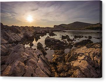 Sunset Canvas Print by Akos Kozari