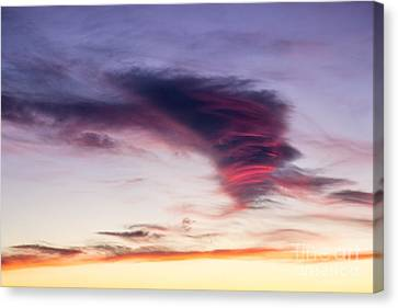 Sunset And Clouds Red Sensations. Canvas Print by Stefano Piccini