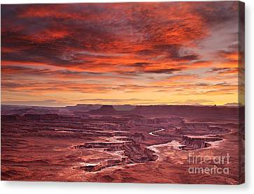 Sunset At The Green River Overlook Canvas Print