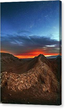 Valley Of The Moon Canvas Print - Sunset by Babak Tafreshi