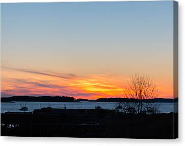 Sunset Down East Maine  Canvas Print by Trace Kittrell