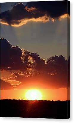 Canvas Print featuring the photograph Sunset by Elizabeth Budd