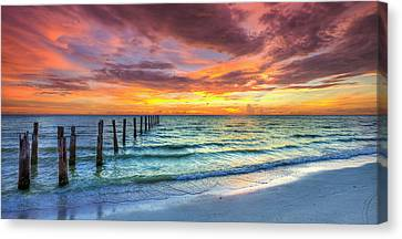 Sunset In Paradise Canvas Print by Sean Allen