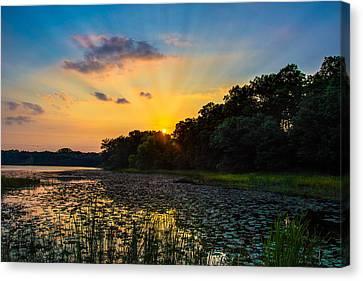 Sunset On Lake Masterman Canvas Print