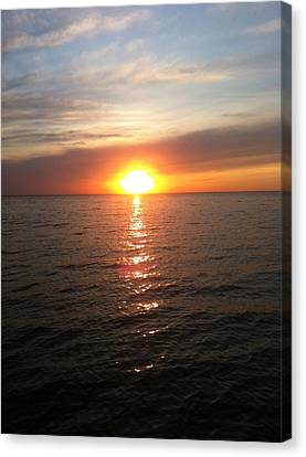 Sunset On The Bay Canvas Print by Tiffany Erdman