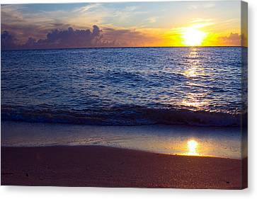 Sunset Over Boca Grande  Florida Canvas Print by Fizzy Image