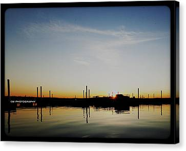Sunset Over The Marina. Canvas Print