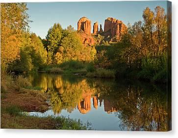 Sunset, Reflections, Oak Crek Canvas Print