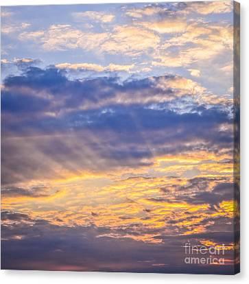 Turbulent Skies Canvas Print - Sunset Sky by Elena Elisseeva