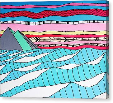 Sunset Surf Canvas Print by Susan Claire