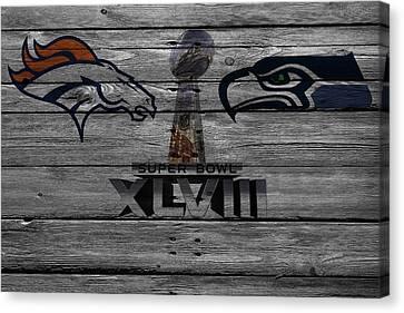 New York Mets Stadium Canvas Print - Super Bowl Xlviii by Joe Hamilton