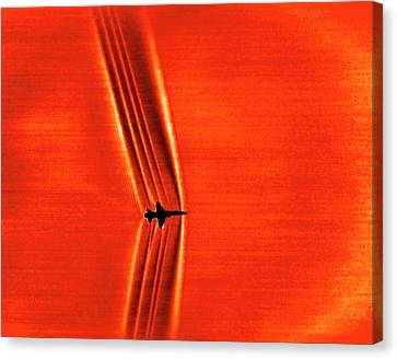 Schlieren Canvas Print - Supersonic Shock Waves by Nasa