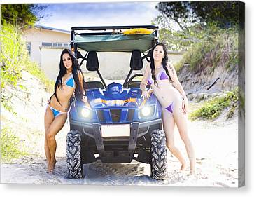 Surf Rescue Babes Canvas Print by Jorgo Photography - Wall Art Gallery