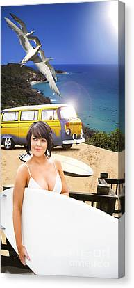 Surf Sun And Beach Fun Canvas Print by Jorgo Photography - Wall Art Gallery