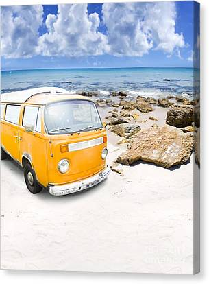 Surf Van Canvas Print by Jorgo Photography - Wall Art Gallery