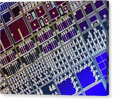 Surface Of Microchip Canvas Print