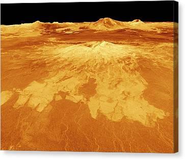 Surface Of Venus Canvas Print by Nasa/jpl