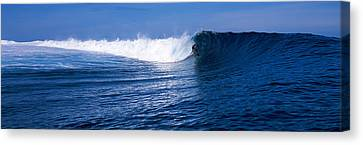 Risk Society Canvas Print - Surfer In The Sea, Tahiti, French by Panoramic Images