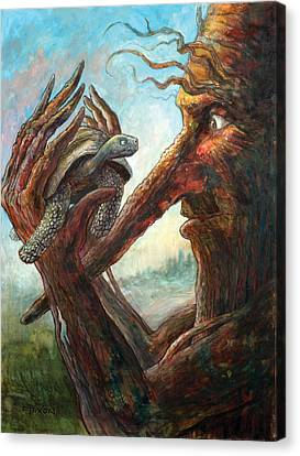 Fantasy Creatures Canvas Print - Surprise Encounter by Frank Robert Dixon