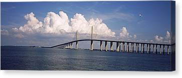 Suspension Bridge Across The Bay Canvas Print