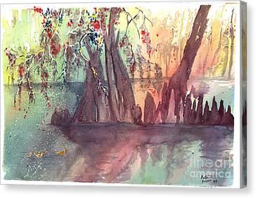 Swamplight Canvas Print by Patsi Prince