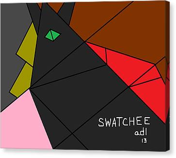 Swatchee Canvas Print by Anita Dale Livaditis