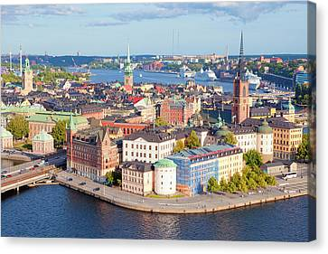 Sweden, Stockholm - The Old Town Canvas Print