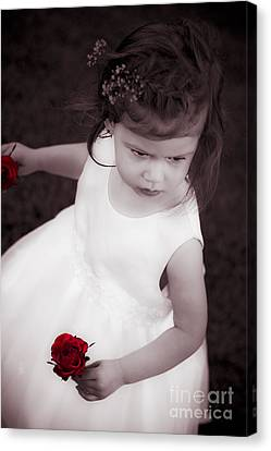 Sweet Little Rose Girl Canvas Print by Jorgo Photography - Wall Art Gallery