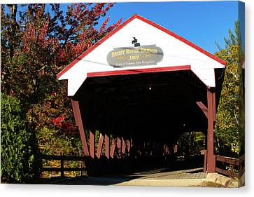 Swift River Covered Bridge Canvas Print by Jeff Folger