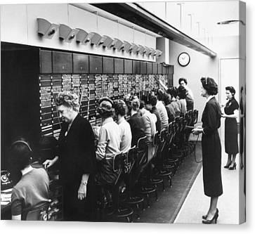 Switchboard Operators Canvas Print
