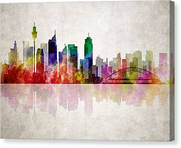 Sydney Australia Skyline Canvas Print by Daniel Hagerman