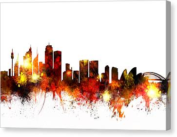 Australia Canvas Print - Sydney Australia Skyline by Michael Tompsett
