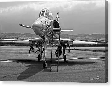 Dale Jackson Canvas Print - Ta-4j Skyhawk by Dale Jackson