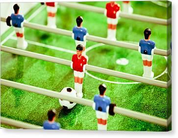 Table Football Canvas Print by Tom Gowanlock