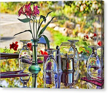Table Setting Reflections Canvas Print by Jack Schultz