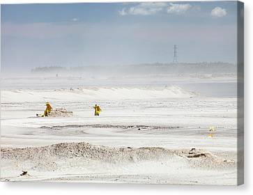 Tailings Pond At The Syncrude Mine Canvas Print