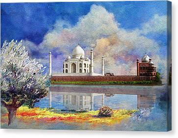 Taj Mahal Canvas Print by Catf